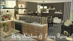 Sims 3 Kitchen Ideas The Sims 4 Betty Kitchen U0026 Living Room Build U0026 Decorate Youtube