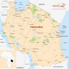 Burundi Africa Map by Tanzania Origins Safaris