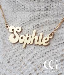 gold name necklaces solid 9ct yellow gold personalised name necklace chains of gold