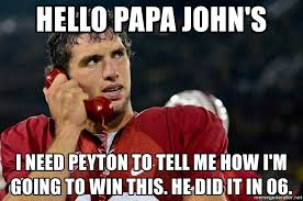 Andrew Luck Memes - hello papa john s i need peyton to tell me how i m going to win