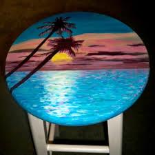 hand painted bar stools salada designs