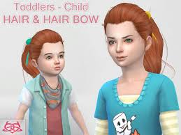 childs hairstyles sims 4 colores urbanos child toddler hair hair bow