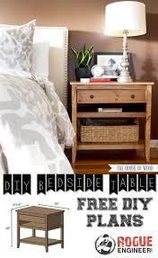 diy bedside table plans diy bedside tables free and diy furniture