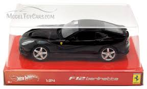 f12 model f12 berlinetta black mattel wheels bck03 1 24