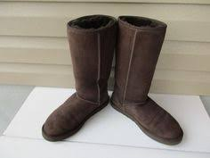 womens shearling boots size 11 ugg black australia s greenfield casual boots s n 1891