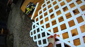 deck building p4 how to install lattice on a deck youtube