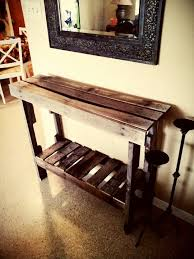 entry table made from pallet wood things made by me entry tables pallet wood and pallets