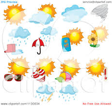 cartoon of weather icons royalty free vector clipart by graphics