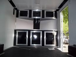 race car trailer cabinets base and overhead cabinets inside enclosed trailer 8 5 x 16 with v