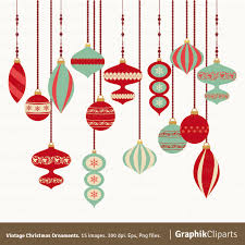 hanging ornaments clipart happy holidays