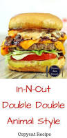 in n out double double animal style dinner then dessert