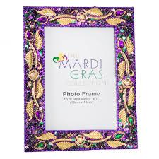 mardi gras frames mardi gras purple leaf frame 5 x 7 mg19 171