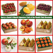 fruit of the month harry and david giveaway for a 9 month fruit of the month club