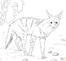 african aardwolf coloring page free printable coloring pages