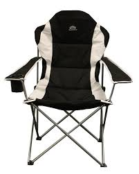 Deluxe Camping Chairs Sunncamp Black Deluxe Steel Xl Portable Camping Armchair Camping