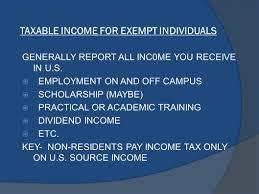 basic tax information for f1 visa holders international students