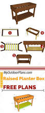 Wooden Planter Box Plans Free by 146 Best Planter Box Plans Images On Pinterest Planter Boxes