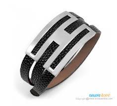 steel leather bracelet images Women s stainless steel leather bracelet gives protection brings jpg