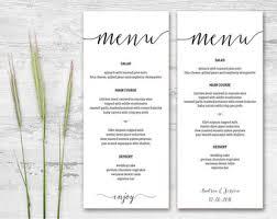 printable menu etsy