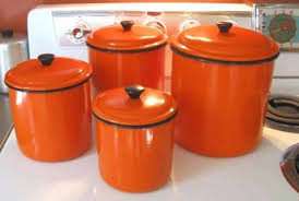 orange kitchen canisters orange kitchen canisters vintage functional kitchen canisters