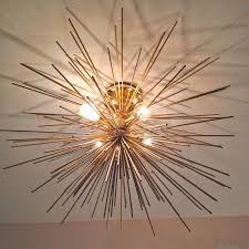 Diy Light Fixtures by Modern Brass Urchin Light Fixture Diy Instructions On How To Make