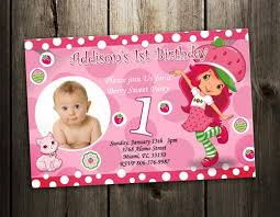 printable birthday invitations strawberry shortcake strawberry shortcake birthday invitation party photo invites