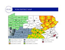 Pennsylvania District Map by Pennsylvania Districts Pcra