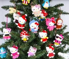 Hello Kitty Christmas Tree Decorations Sanrio Holiday Ornaments Super Cute Kawaii