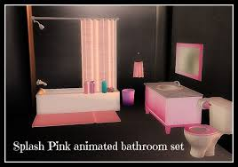 second life marketplace splash pink animated bathroom set