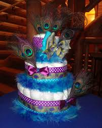 peacock baby shower peacock cake diapers peacocks and cake