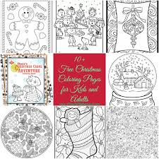 free christmas coloring pages kids adults