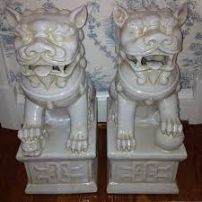 white foo dogs chinoiserie chic white foo dogs inspiration and sourcing