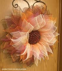 how to make a mesh wreath how to make a flower deco mesh wreath grillo designs