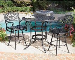 3 Piece Bar Height Patio Set Biscayne Patio Seating And Dining Simple Home Decoration