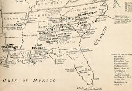 Southeast United States Map by Maps Related To World War I Including Military Map Of The United