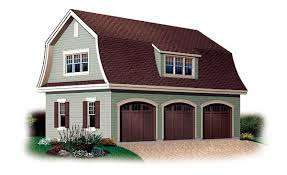 cottage style garage plans 3car garageplan 64821 includes an upstairs bonus area of 560 square