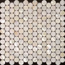 Mirrored Bathroom Wall Tiles - mother of pearl tiles penny round bathroom wall mirror tile
