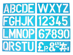 100mm alphabet stencil signwriting upper case u0026 numbers amazon co