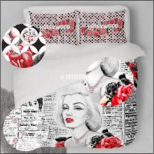 Plane Themed Bedroom by Marilyn Monroe Bedding Set Hollywood Themed Duvet Bedding Set
