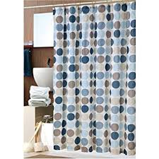 Circles Shower Curtain Bold Blue Circles Fabric Shower Curtain With Hooks