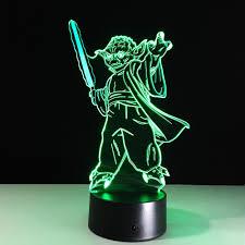 le de bureau wars creative wars illusion 3d nuit lumière maître yoda jedi led