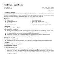 Summary For Job Resume Download Work Resume Templates Haadyaooverbayresort Com