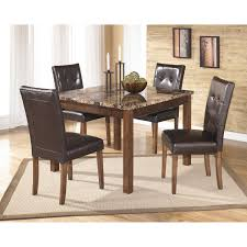 signature design by ashley theo 5 piece dining table set walmart com