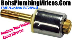 kitchen faucet diverter valve how to replace a kitchen spray diverter or hose