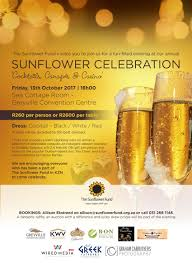 annual sunflower celebration u0027cocktails canapés u0026 casino u0027 13