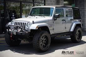 black jeep rubicon jeep wrangler with 20in black rhino sierra wheels exclusively from