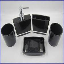 Acrylic Bathroom Accessories Acrylic Bathroom Set Include Lotion Dispenser Tooth Brush Holder