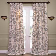 Embroidered Curtain Panels Sophie Embroidered Cotton Crewel Curtain Panel