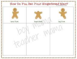teacher mama free how do you eat your gingerbread man graph