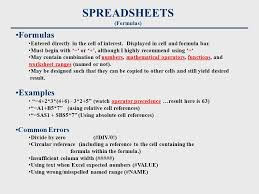 spreadsheets define uses software primarily used for business and